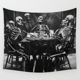 Six Skeletons Smoking Wall Tapestry