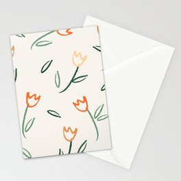 Scattered Tulips Stationery Cards