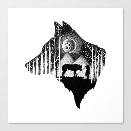 LOST IN THE WILD Canvas Print