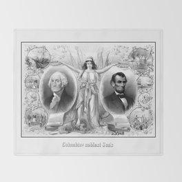 Presidents Washington and Lincoln Throw Blanket