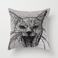 broken Throw Pillows featuring Broken by Tummeow