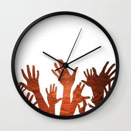 Hands Up Natural Wall Clock