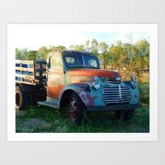 Santa Fe Truck Art Print