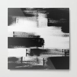 No. 85 Modern abstract black and white painting Metal Print