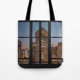 New York City Window View Tote Bag