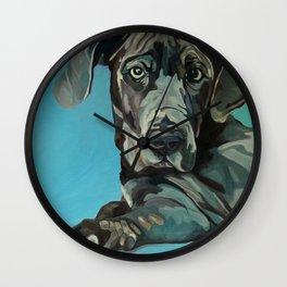 Great Dane Dog Portrait Wall Clock