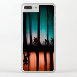 Stranger thing Upside Down Clear iPhone Case