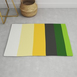 Yellow & Green Stripe Pattern Rug