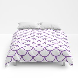 Purple Fish Scales Pattern Comforters