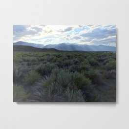 Sunrays at Mono Lake Metal Print