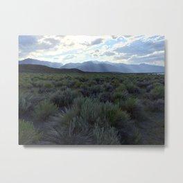 Sunrays at Mono Lake Metal Print