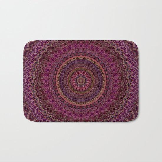 Dark purple mandala Bath Mat