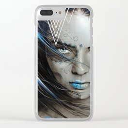 'Mujeres De Ojos Azules' Clear iPhone Case