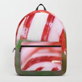 Macro of Stiped Hard Candy Backpack