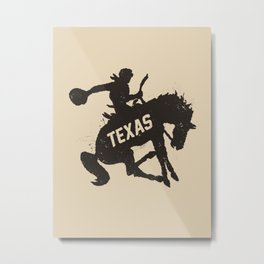 Texas Cowboy Metal Print