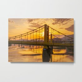 Pittsburgh Bridges Sunrise Print Metal Print