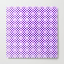 Electric Violet Polka Dots Metal Print