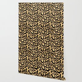 Animal print - natural gold Wallpaper