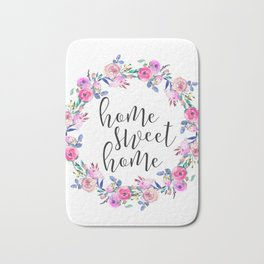 Home Sweet Home, Apartment Decor, Printable Wall Art, Typography Quote Bath Mat
