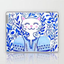 Folk Cat Laptop & iPad Skin