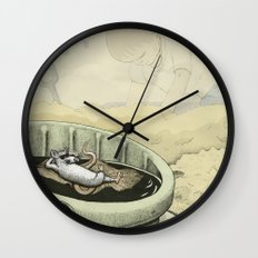 A Rat in a Bucket Wall Clock