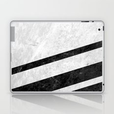 White Striped Marble Laptop & iPad Skin
