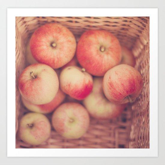 Basketful of Apples Art Print