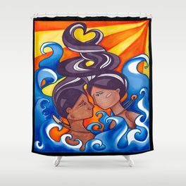 Two Lovers of Guam Shower Curtain