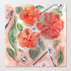 Orange Pansies Canvas Print
