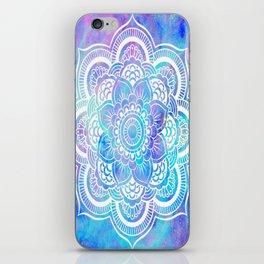 Mandala Pink Lavender Aqua Galaxy Space iPhone Skin