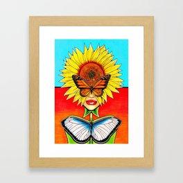 Sunflower Side Up Framed Art Print