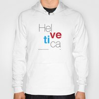 helvetica Hoodies featuring Helvetica by Ana Guillén Fernández