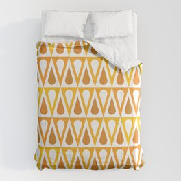 Geometric Pattern 57 (orange teardrop triangles) Comforters