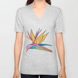 Oiseau du paradis Unisex V-Neck
