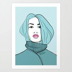 Turtleneck Art Print