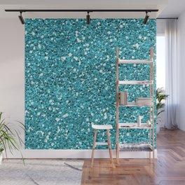 Light Blue Glitter 01 Wall Mural