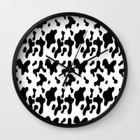 cow Wall Clocks featuring Cow by Cs025