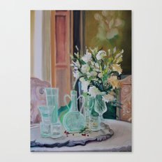 Bunch of white flowers Canvas Print