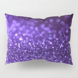 Pantone Color 2018 Ultra Violet Purple Glitter Pillow Sham