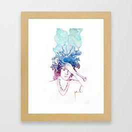 I'll Smoke Your Cigarettes So That I'm Dying Too Illustration Framed Art Print