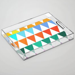 Triangles of Color Acrylic Tray