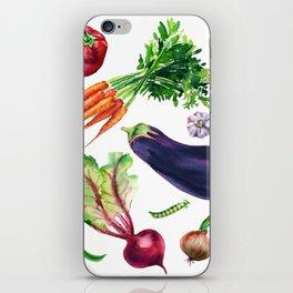 vegetables watercolor iPhone Skin