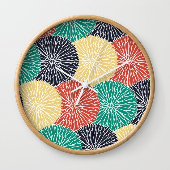 Flower Infusion 2 Wall Clock