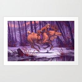 King of the Forest - Metsän Kuningas Art Print
