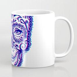 Sugar Skull (Calavera) Chromatic Aberration - Cyan Magenta Coffee Mug