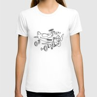 plane T-shirts featuring Pedal Plane by Mobii