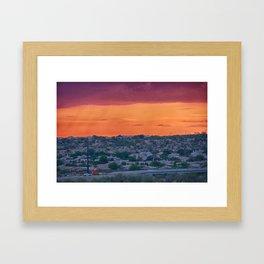 Sunset Construction Framed Art Print