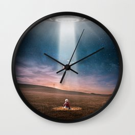 Child and UFO Wall Clock