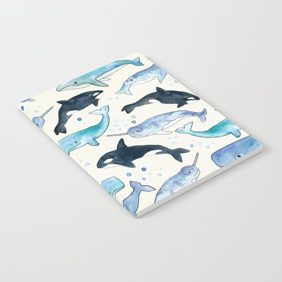 Whales, Orcas & Narwhals Notebook