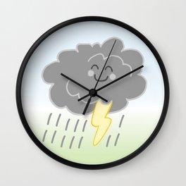 Floof Storm Cloud Wall Clock